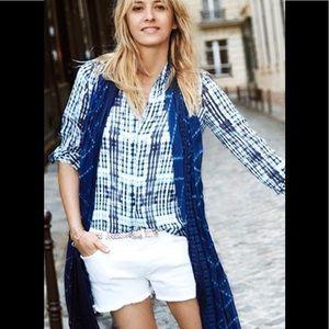 COMPTOIR Des cotonniers silk button blouse XS